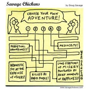 Savage Chicken cartoon: Chicken Adventure