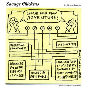 Savage Chicken cartoon: Chicken Adventure