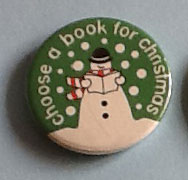 Picture of badge with snowman reading